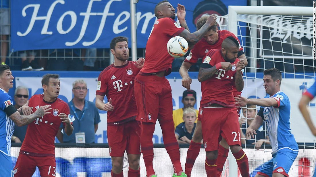 With 17 minutes to play, Bayern was reduced to 10 men when Germany defender Jerome Boateng was sent off for a second successive handball offense -- the latter when he tried to block a free-kick.
