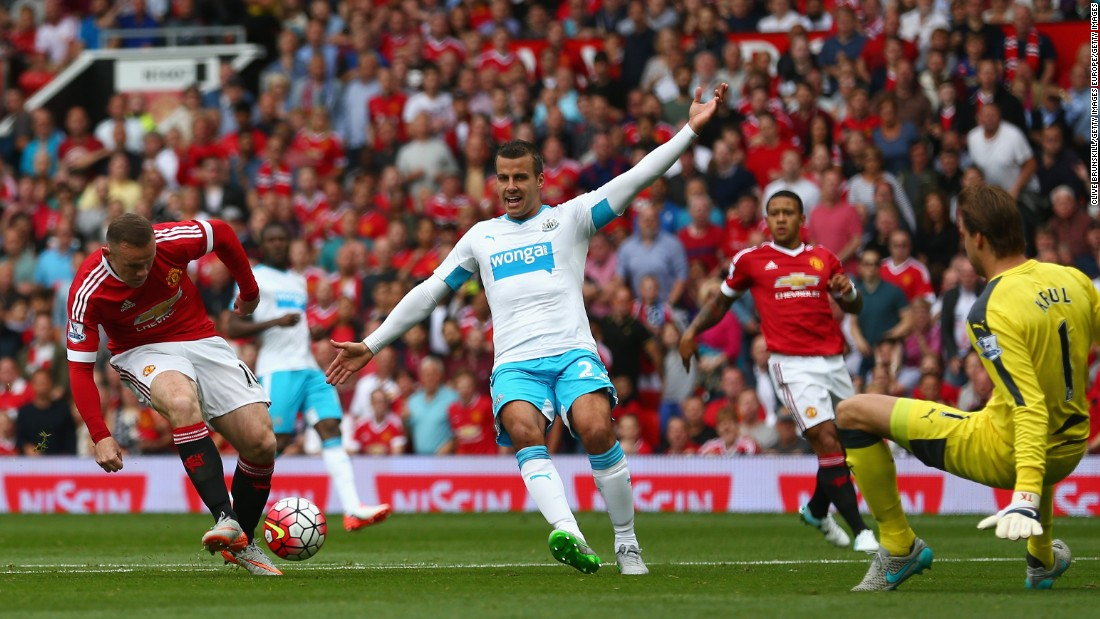 In England, Manchester United dropped its first points in round three of the new Premier League campaign, drawing 0-0 at home to Newcastle. Captain Wayne Rooney, seeking to end a goal drought, had an early effort ruled out for offside.