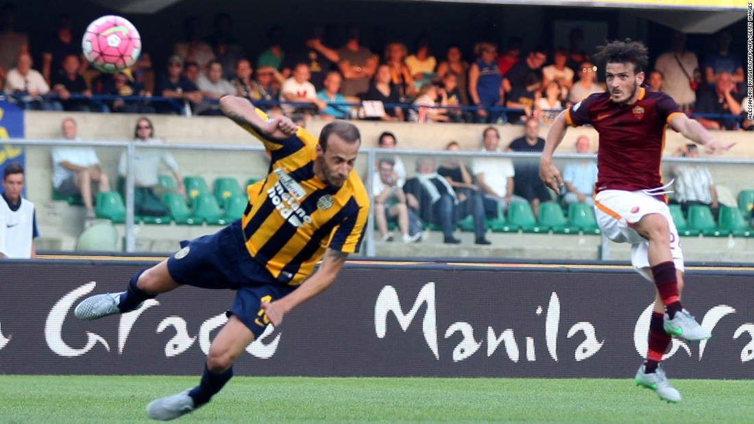 Last season's runner-up Roma needed this spectacular strike from  midfielder Alessandro Florenzi to earn a 1-1 draw at Hellas Verona in the opening match of the new Serie A season.