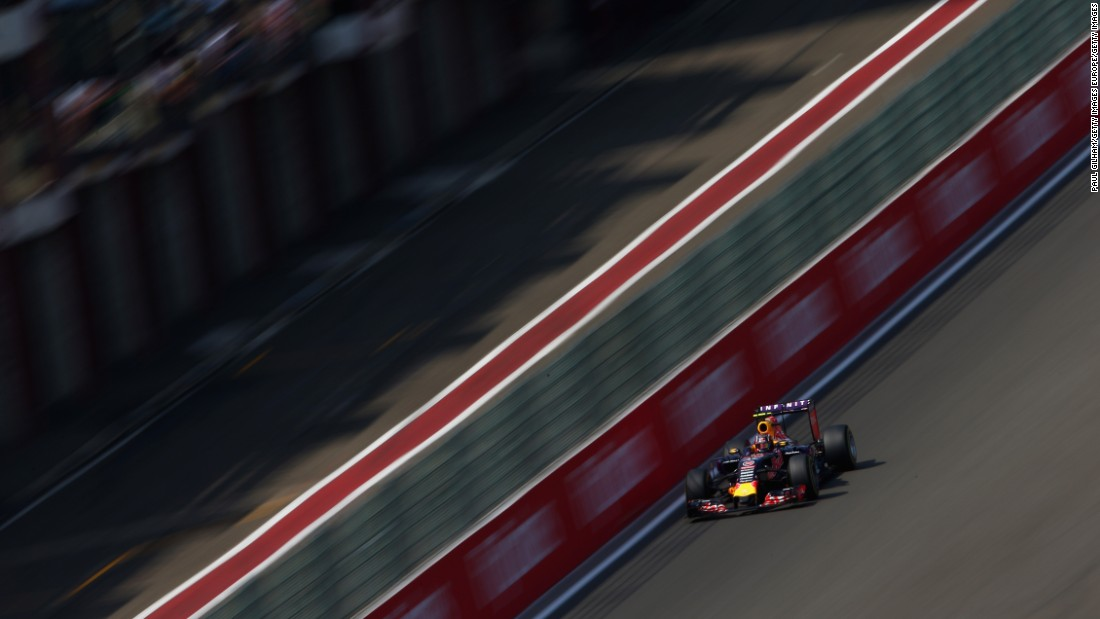 Daniil Kvyat of Red Bull claimed a dramatic fourth position after overtaking Kimi Raikkonen, Felipe Massa and Sergio Perez late on.