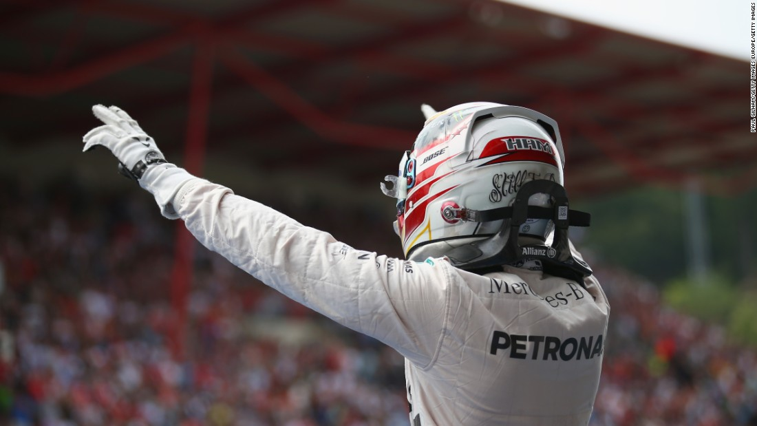 Hamilton's victory was a first for Mercedes at the legendary Spa-Francorchamps track since 1955.