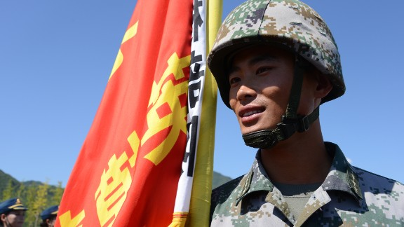 Chen Hai, 29, is a lieutenant in a company that fought against the Japanese. He said he is proud to be selected to attend the parade.