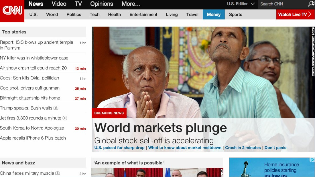 "CNN's homepage on desktop in 2015: See how CNN's website has evolved through the years. <br /><a href=""http://www.cnn.com/interactive/2015/08/specials/cnn-digital-20/""><br />Related: Happy 20th birthday, CNN.com</a>"