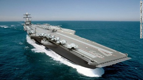 Photo illustration of the U.S. Navy Ford-class aircraft carrier USS John F. Kennedy