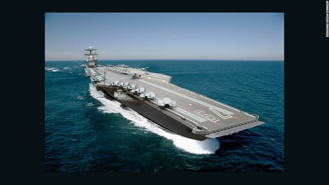 The second carrier in the USS Gerald Ford class, the USS John F. Kennedy, seen here in a photo illustration, is under construction by Newport News Shipbuilding.<br /> <br />The keel of the vessel was laid in August at the Virginia shipyard, and the builder reports that 450 of the ship's 1,100 structural units have been made since work began in 2010.<br /> <br />The Navy said in June that it expects the cost for the Kennedy to come in below the Ford, as some cost savings were identified in the process of building the first ship in the class.<br /> <br />