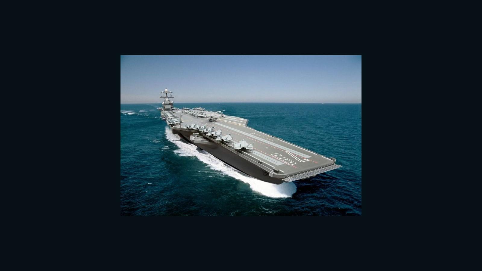"USS JOHN F KENNEDY CV 67 3/"" X 9/"" Land of the free Decal"