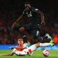 benteke tackled arsenal liverpool