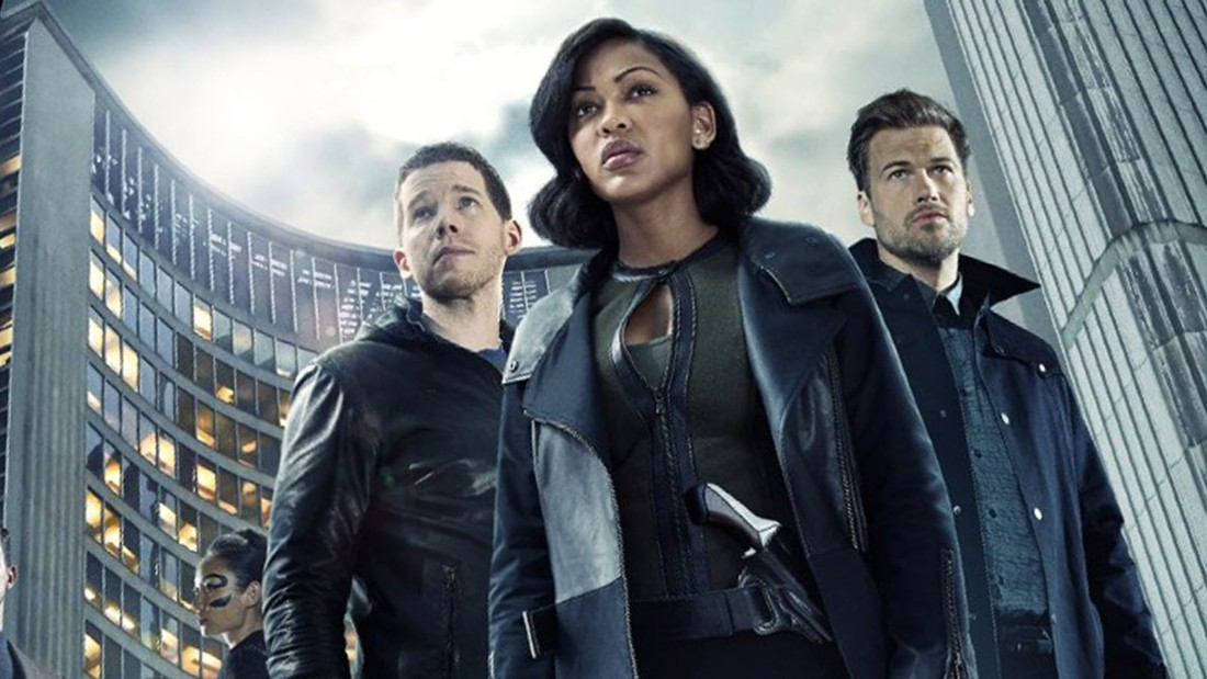 "Stark Sands, Meagan Good and Nick Zano star in the sci-fi series ""Minority Report,"" a TV sequel to the 2002 film starring Tom Cruise."