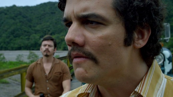 """The rise and fall of drug lord Pablo Escobar is at the center of Netflix's new drama """"Narcos."""" Wagner Moura stars as Escobar."""