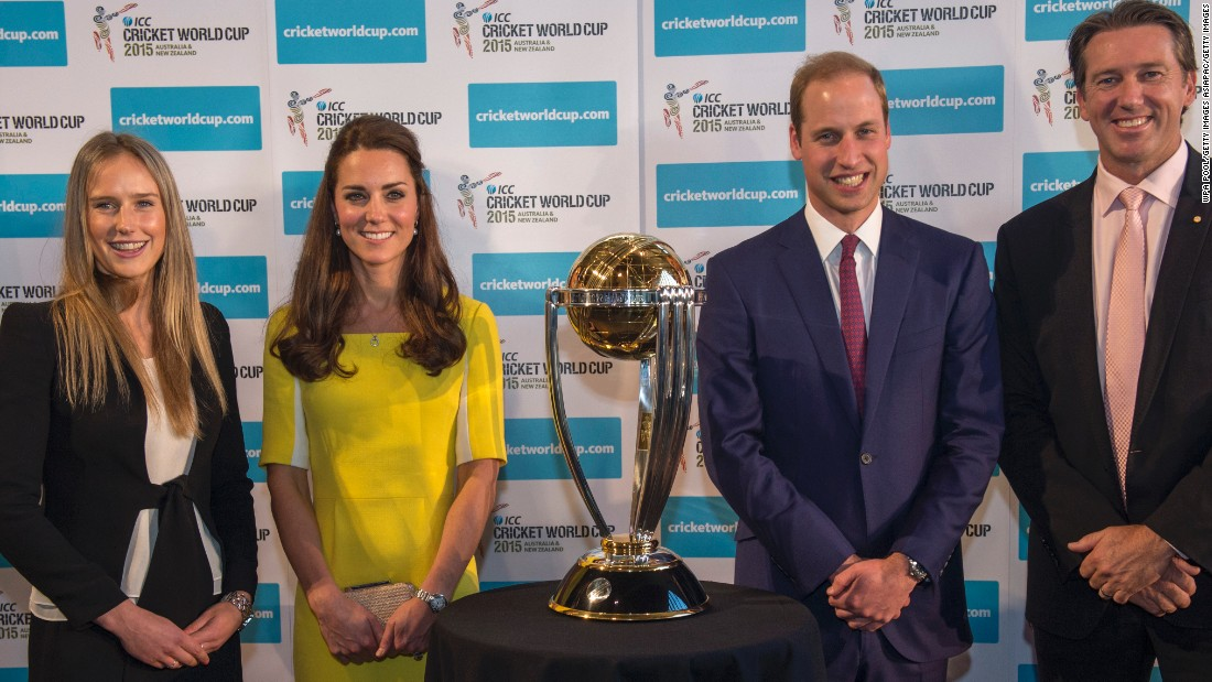 Perry met the Duke and Duchess of Cambridge upon their visit to Australia during the men's Cricket World Cup. Perry, along with former fast-bowler Glenn McGrath, spent time with the British royal couple in Sydney.