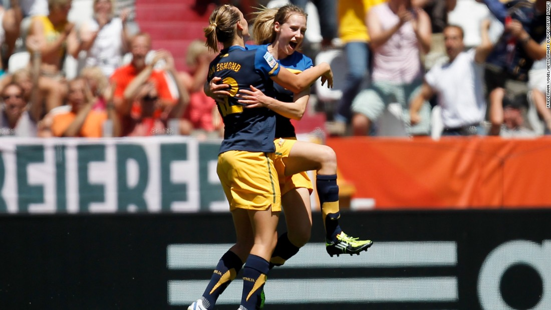 She scored a stunning goal against Sweden, but Australia lost 3-1 to miss out on a semifinal place.
