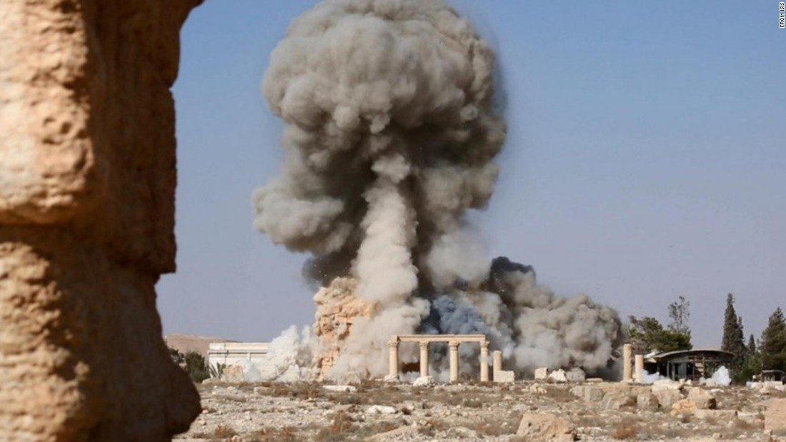 "UNESCO, the United Nations cultural organization, called the destruction of the Temple of Baalshamin a ""war crime."""