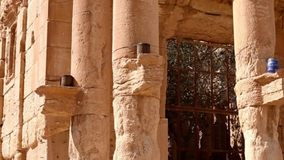 ISIS members say they rigged the temple with large quantities of explosives and detonated them.