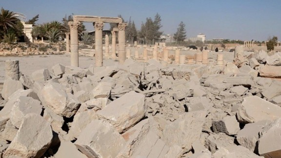 There was uncertainty -- not unusual amid the chaos of the Syrian conflict -- over when exactly the damage was done to the temple, which dates from the first century. See more photos from the ruins of Palmyra