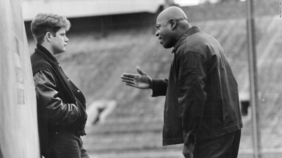 "Based on a true story, the 1993 tearjerker ""Rudy"" follows a runty kid (Sean Astin, left) whose unlikely dream is to play football for Notre Dame."