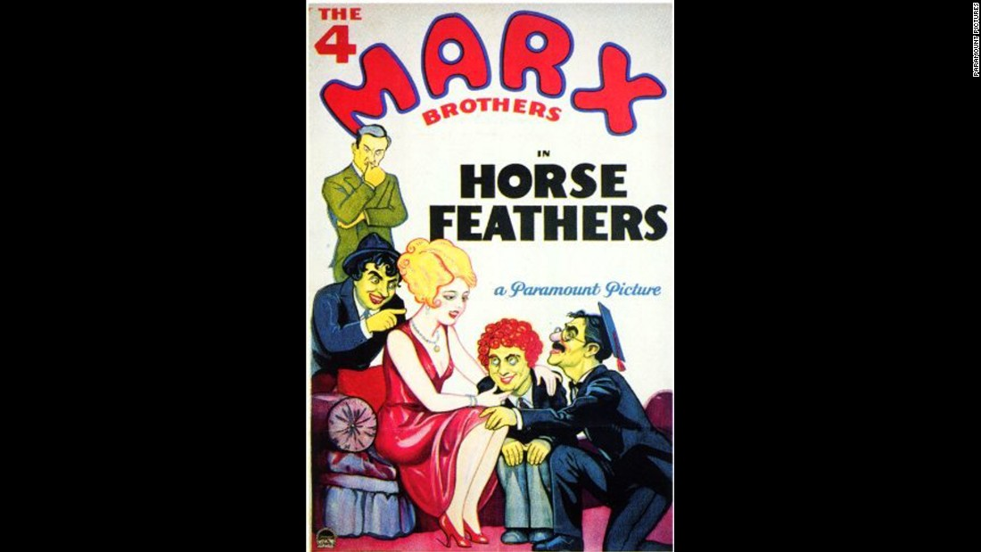 "In the 1932 Marx Brothers comedy ""Horse Feathers,"" a university president hires a couple of ringers to help his football team beat the school's rivals."