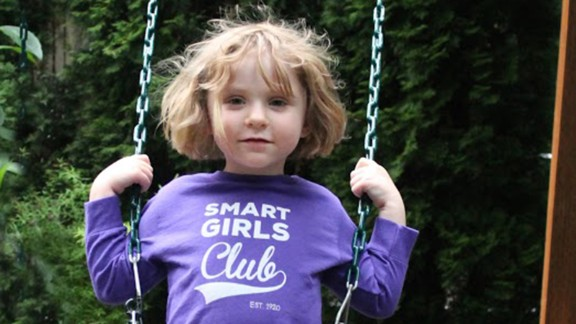 "Free To Be Kids aims to tackle gender cliches head on with empowering T-shirts for girls and boys, such as this one titled ""Smart Girls Club."" The company offers a choice between unisex tees, with plenty of room, or slimmer versions."