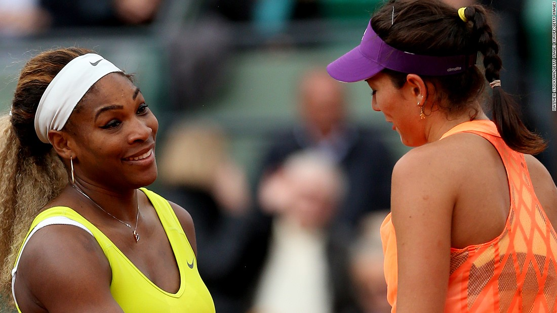 Garbine Muguruza toppled Williams at the 2014 French Open but Williams gained her revenge in July, defeating the Spaniard in the Wimbledon final.