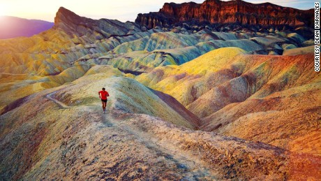 Sunset during the Badwater Ultramarathon is a sight to behold -- if you can handle the pain.