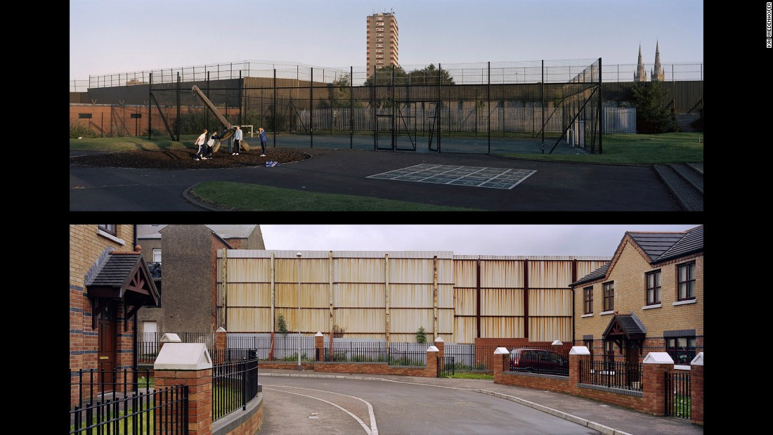 Top: Belfast, Beverly Street; Northern Ireland, 2006. Bottom: Belfast, Hillman Street; Northern Ireland, 2008.