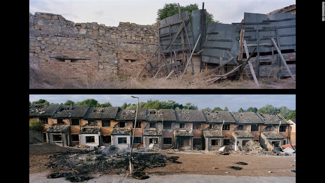 Top: Nicosia, Center, UN Buffer Zone; Cyprus, 2010. Bottom: Belfast, Glencollyer Street; Northern Ireland, 2007.