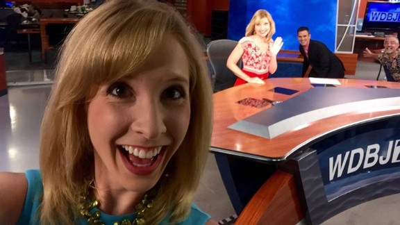 """Alison Parker often reported on the area chamber of commerce -- as she was doing the day she died -- with a knack for finding the human stories in business news. """"She cared about her stories and she took a genuine interest in what people said,"""" freelance colleague Becky Blanton said. """"She would look for personal details and ask the questions others didn't ask."""""""