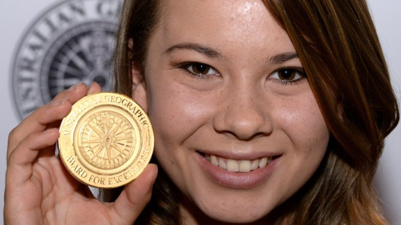 """The late Steve Irwin's daughter, Bindi Irwin, has grown up to be quite the conservationist, just like her dad. She's also become a bit of a celeb like her father and was recently recruited for season 21 of """"Dancing With the Stars."""""""