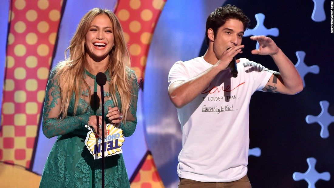 Tyler Posey appeared on Fox's Teen Choice Awards in August 2014 in Los Angeles with Jennifer Lopez. It was a throwback to years earlier when ...