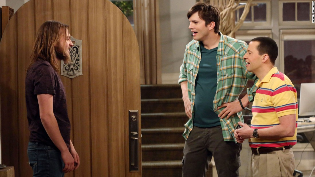 "Angus T. Jones, left, grew up before viewers' eyes on the hit CBS series ""Two and a Half Men."""