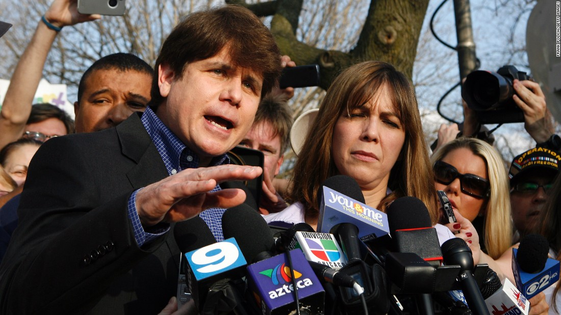 "Former Illinois Gov. Rod Blagojevich appeared on season 9 of ""Celebrity Apprentice.""  In 2012 he began serving a 14-year term for conviction on numerous counts of fraud and corruption during his political career."