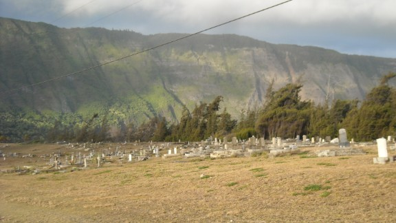 Pictured, graves at Kalaupapa. Many patients died there during its years as a leprosy settlement.