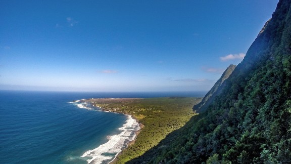 The Kalaupapa site was chosen for its isolation. It is flanked by the some of the tallest cliffs in the world.