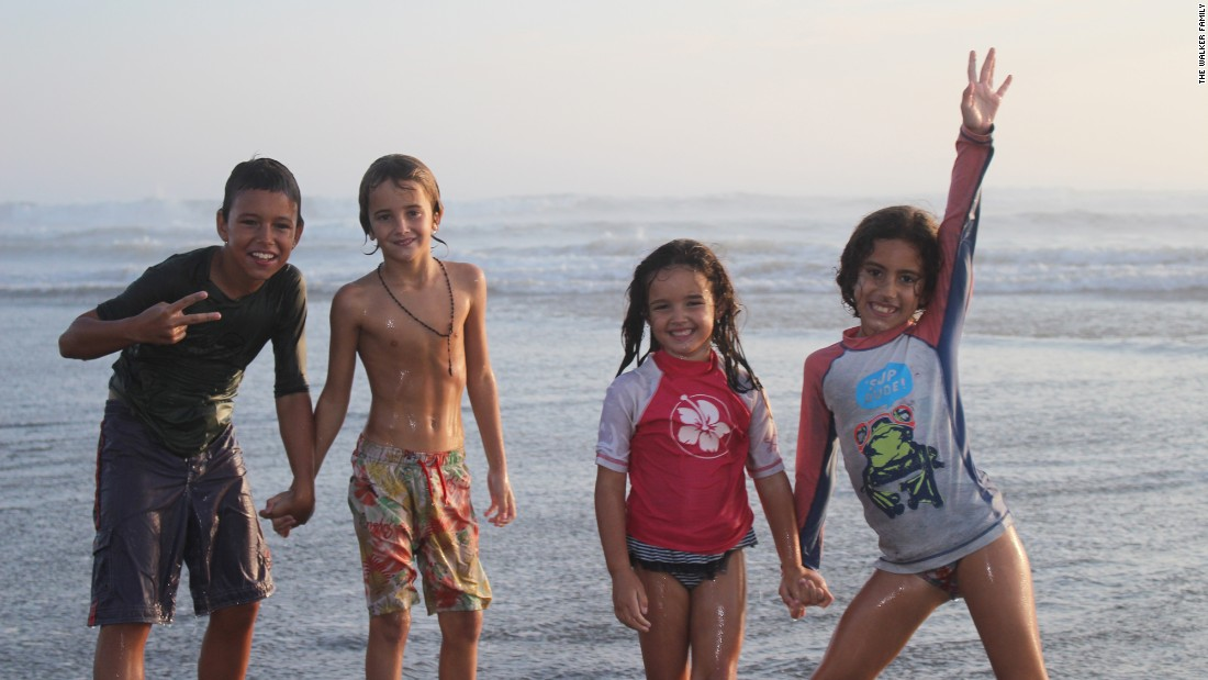 The kids had fun on the beach in Pimentel, Peru. They've made many new friends on their epic trip.