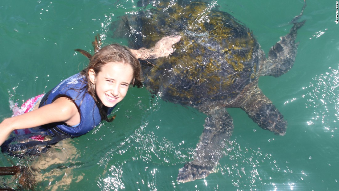 It was a fun-filled day for Cala, 12, in Mancora, when she got to swim with the turtles.