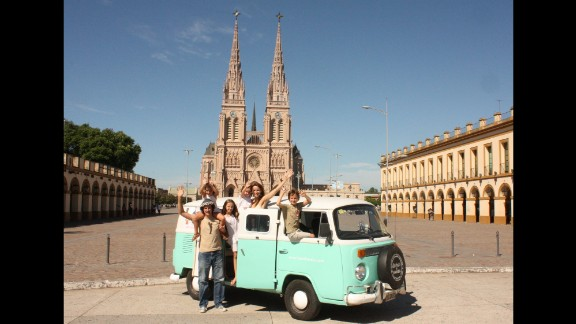 The family began their journey with Mass at the cathedral dedicated to Our Lady of Lujan, Argentina's patron saint.