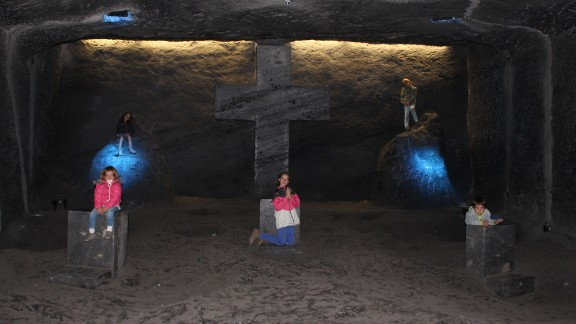 The Walkers have been visiting Catholic shrines and churches on their journey. In Bogota, Colombia, they toured a cathedral built in a tunnel of a salt mine, the only one of its kind.
