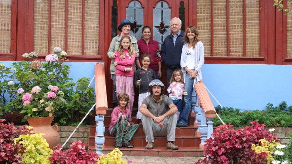The family has been grateful to people who have taken them in. They stayed at a farm near Bogota owned by Carlos and Claudia Mazabel.