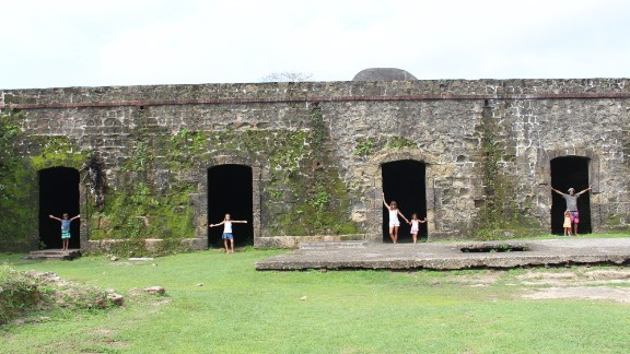 The Walkers have visited several historic spots in Latin America on their journey. In Panama, they visited Fort San Lorenzo, which UNESCO has declared a World Heritage Site.