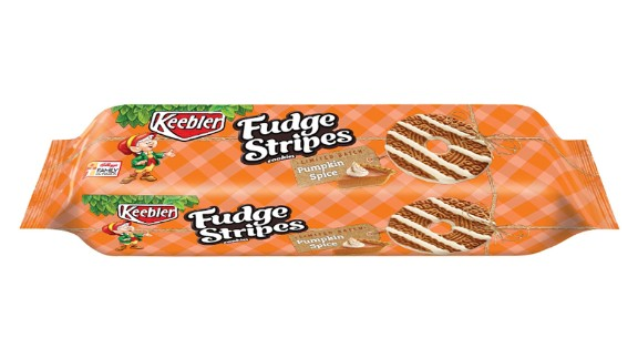 Another new entry: Keebler Pumpkin Spice Fudge Stripes cookies