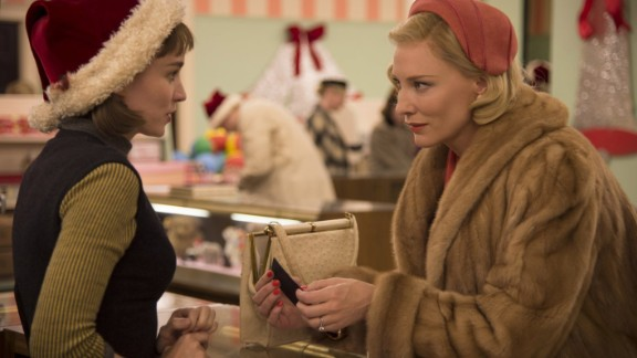 """Carol"" co-stars Oscar winner Cate Blanchett, right, and Rooney Mara as two women who develop a relationship in 1950s New York. It"