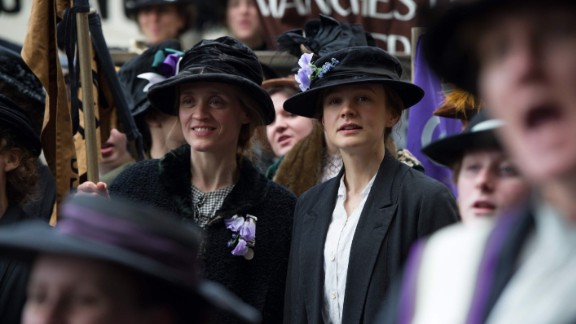 "Carey Mulligan, center right, Meryl Streep and Helena Bonham Carter are the stars of ""Suffragette,"" about the right to gain the vote for women in turn-of-the-20th-century Britain. Abi Morgan, who wrote the scripts for ""The Iron Lady,"" ""Shame"" and the TV series ""The Hour,"" wrote the screenplay; Sarah Gavron directs."