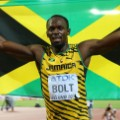 Usain Bolt Jamaica flag