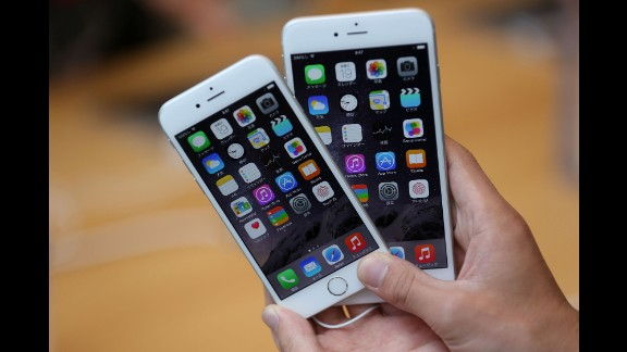 Last year, Apple enlarged the iPhone 6 and introduced an even larger model, the iPhone 6 Plus. Both were seen as attempts to compete with popular rival devices from Samsung and other makers. The iPhone 6, left, featured a 4.7-inch display (measured diagonally) but was dwarfed by the iPhone 6 Plus and its 5.5-inch screen. Both devices ran  iOS 8.