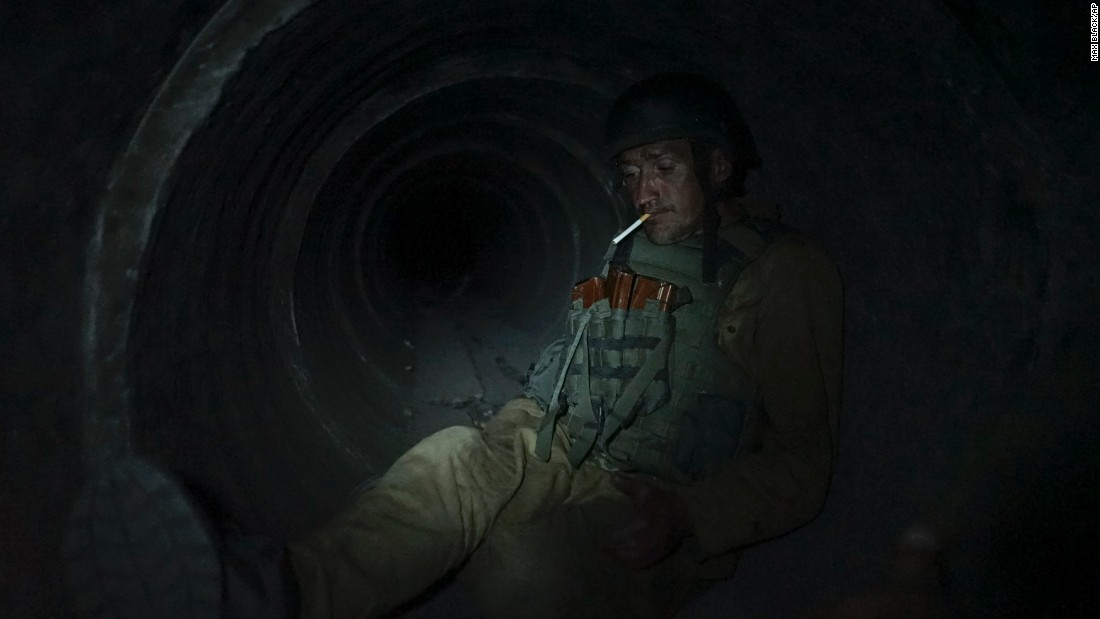 "A Ukrainian soldier rests in a shelter near Avdiivka, Ukraine, on Monday, August 24. <a href=""http://www.cnn.com/2015/08/21/world/gallery/week-in-photos-0820/index.html"" target=""_blank"">See last week in 42 photos</a>"