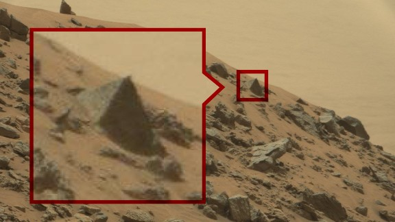 The Pyramid: Alien hunters say this pyramid is roughly the size of a small car, and believe it may be the tip of a much larger pyramid buried underground.