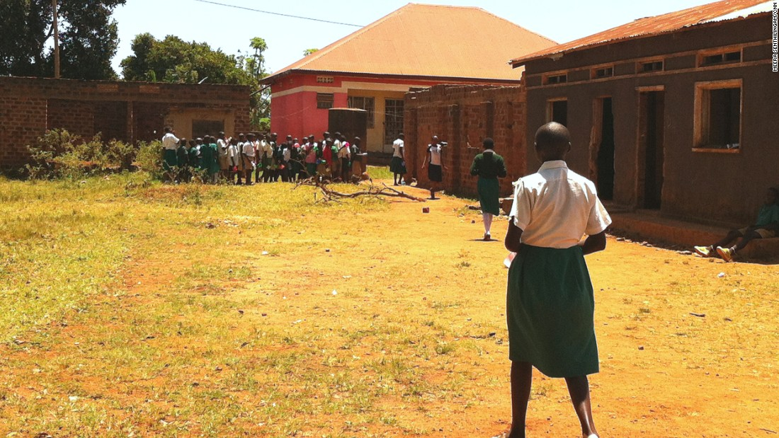 The main control strategy to date has been mass delivery of drugs to everyone in high risk communities, particularly school children who are most likely to become infected and suffer the greatest morbidity. Pictured, a school in near the shores of Busaabala, Uganda.