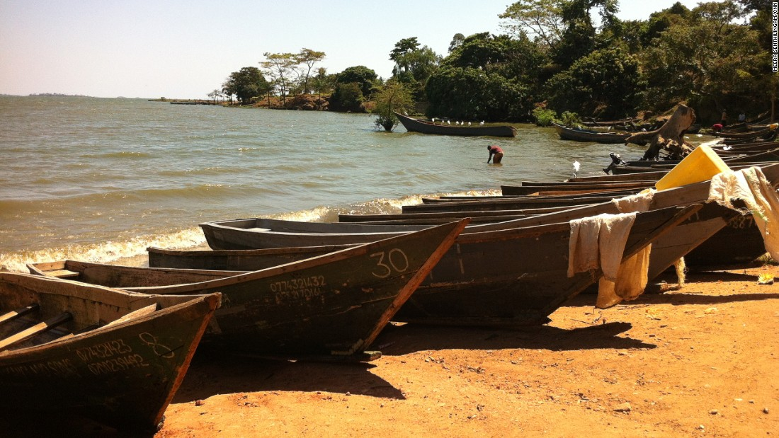 Fishing and island communities remain hotspots for the disease today, as locals rely on the lake -- and its water -- for their livelihoods. Pictured, the shores of the Busaabala fisihing community, Uganda.