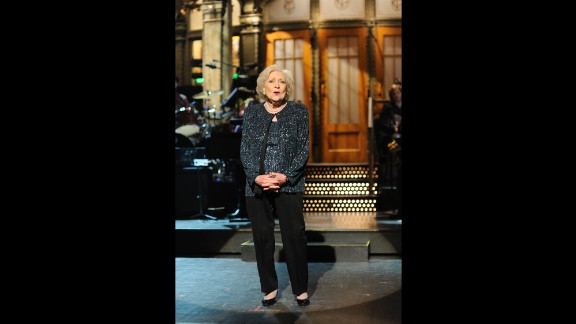 """White is the oldest person ever to host """"Saturday Night Live."""" She was the emcee of an episode in 2010."""