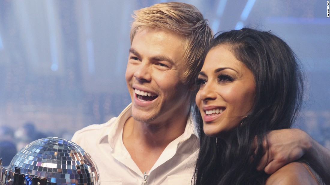 "Pussycat Doll Nicole Scherzinger and Hough were crowned ""Dancing with the Stars"" champions in season 10."