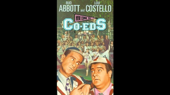 """Comedy team Bud Abbott and Lou Costello become caretakers at an all-girls college in the 1945 flick """"Here Come the Co-Eds."""" Obviously, hilarity ensues."""